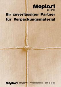 Versandtasche der Moplast Kunststoff AG