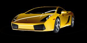 Gelber Sportwagen